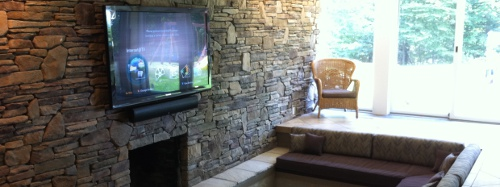 Mantle Makeover: Converting Your Fireplace Into a Home Entertainment System